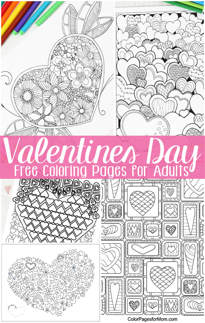 Valentine color pages for Valentines days coloring pages