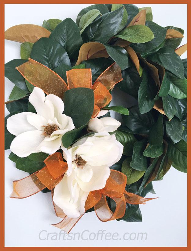 DIY Spring Magnolia Wreath
