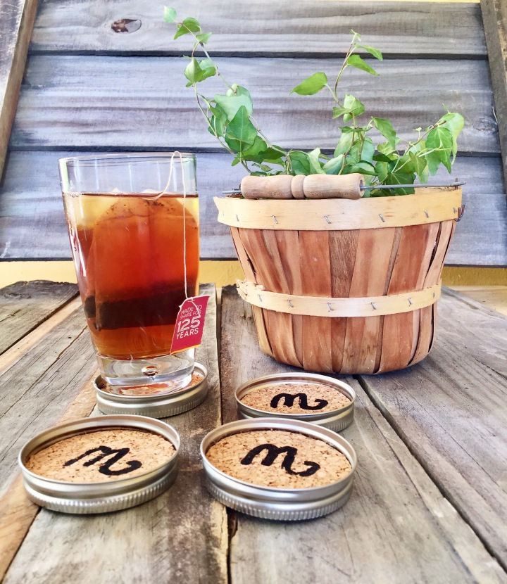DIY Friday~ Upcycling Mason Jar Lids As Coasters