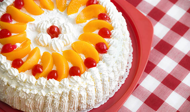 Grandma duPont's Peaches and Cream Cake by Kate Pearce