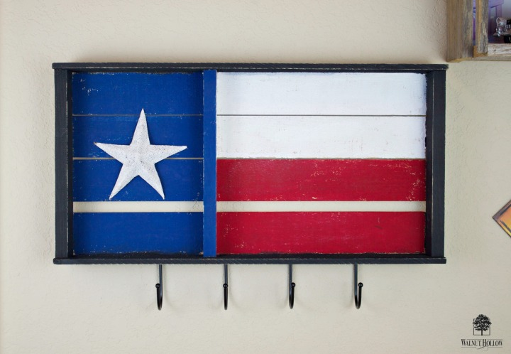 Rustic Flag Key Holder DIY