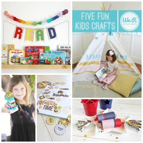 5 Fun Kids Crafts by We R Memory Keepers