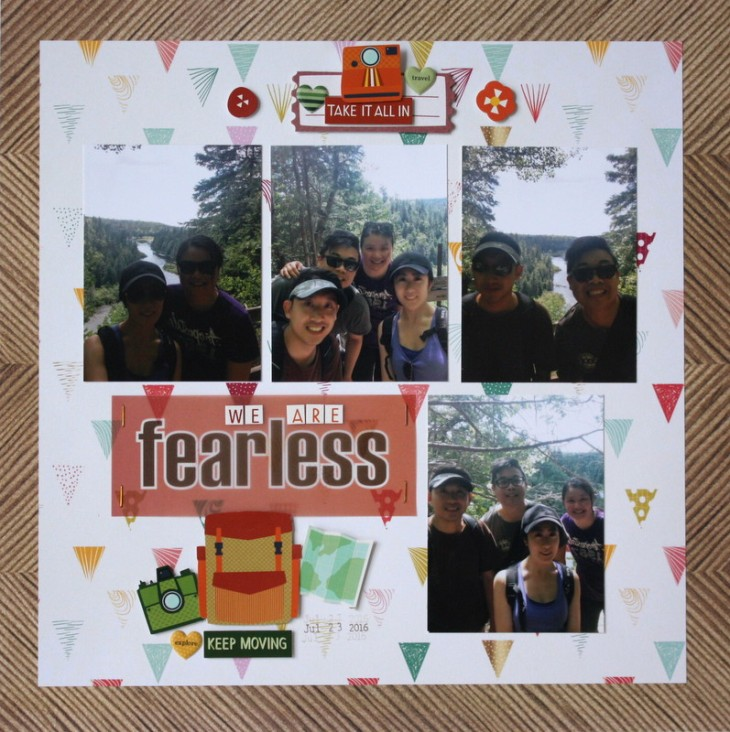 Fearless Scrapbook Layout