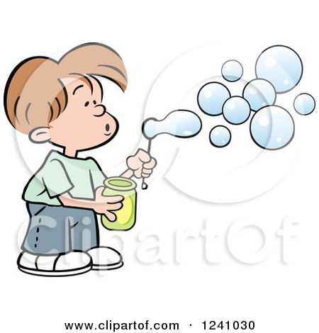 1241030-Clipart-Of-A-Caucasian-Boy-Blowing-Bubbles-Royalty-Free-Vector-Illustration