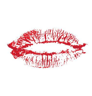 Lips, kiss colored