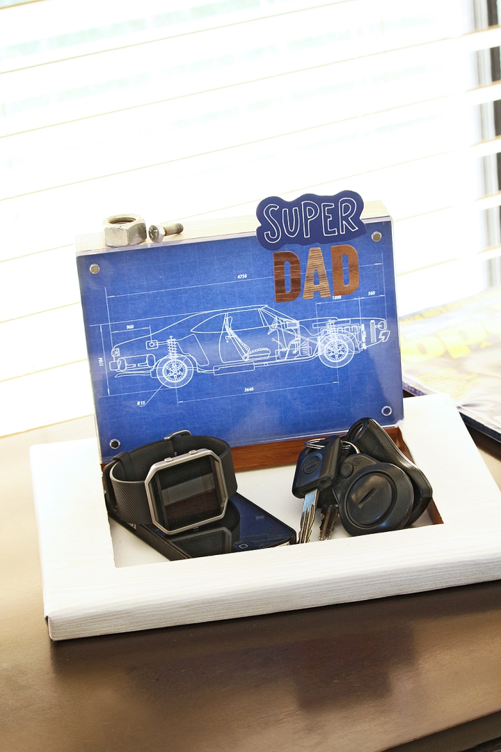 Father' Day Gift Tray by Chantalle McDaniels for We R Memory Keepers