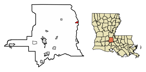 500px-St._Landry_Parish_Louisiana_Incorporated_and_Unincorporated_areas_Melville_Highlighted.svg