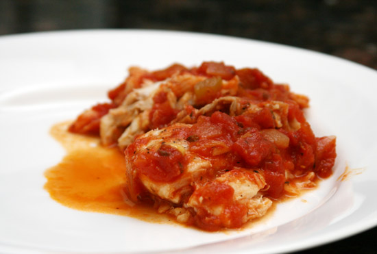 Baked Fish with Tomato Sauce