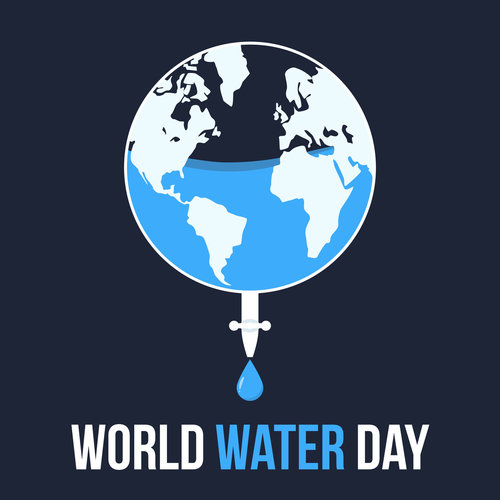World water day flat style banner design
