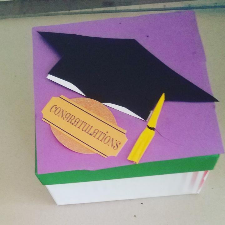 Graduation Gift box * Up-cycledart