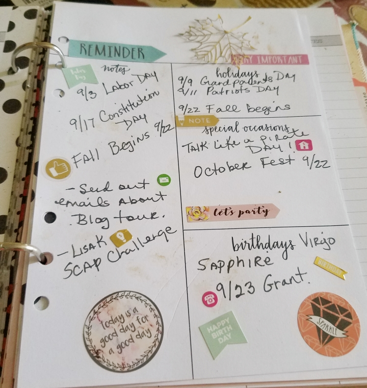 Weekly Recipe & Month Planner