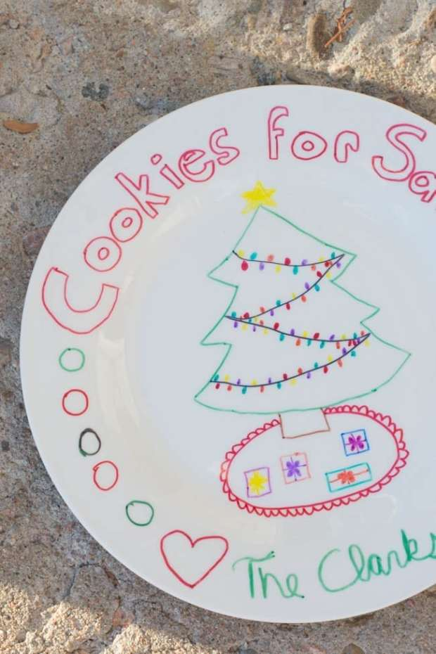 diy-santa-cookie-plate-5