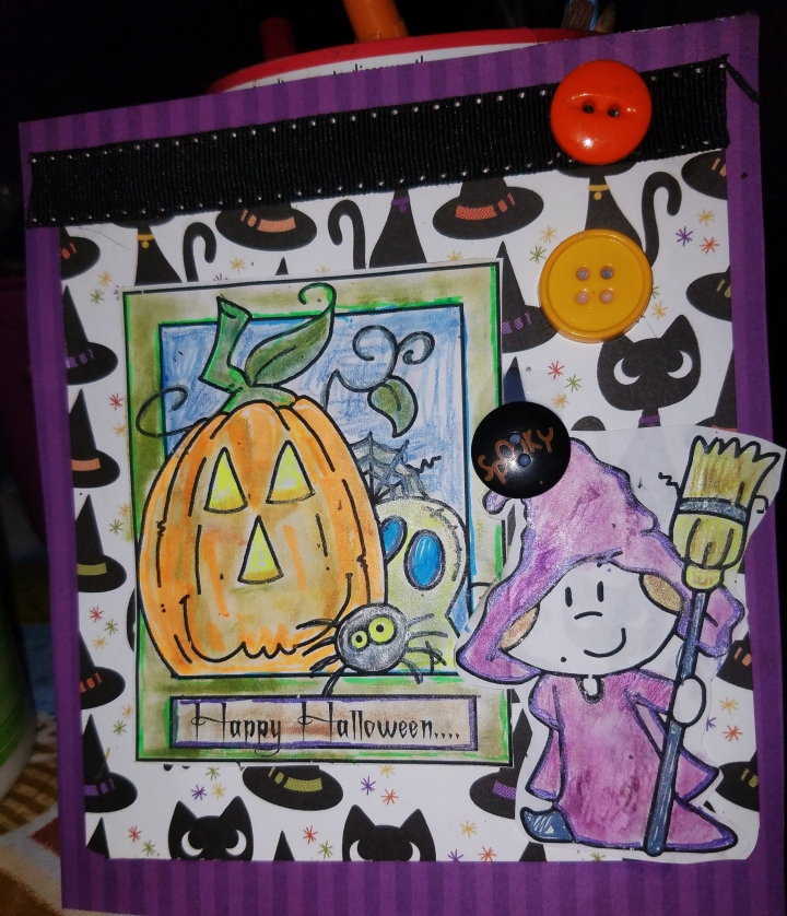 Halloween card making with Lisa