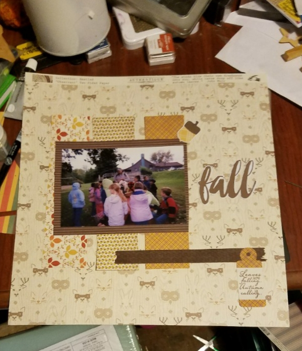 Fall Scrapbook Pages*