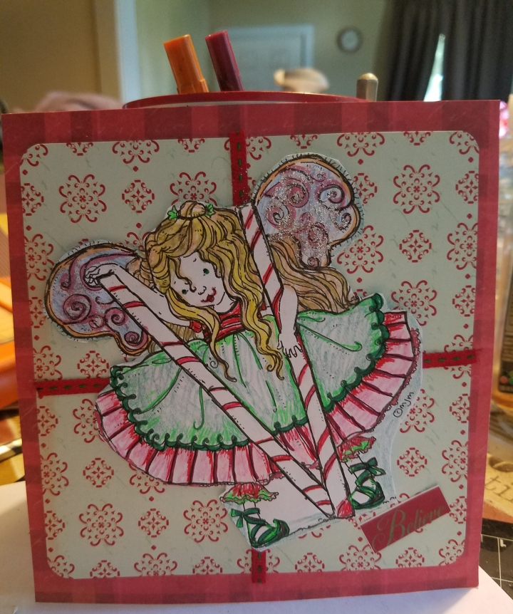 Christmas Peppermint Fairy Card and a Recipe