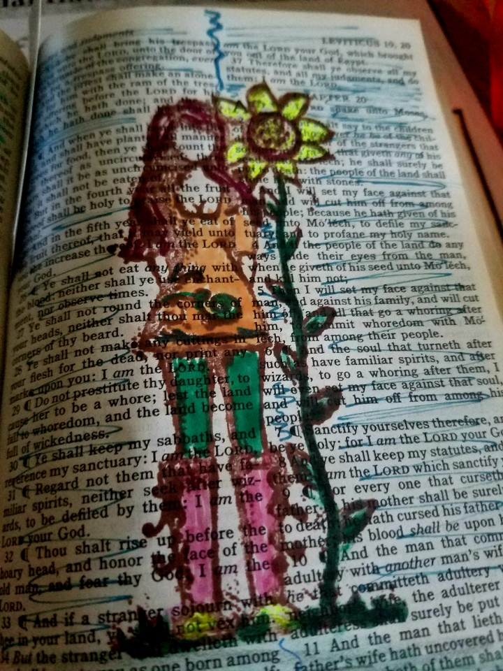 Sunday * Words of Faith with bible journaling