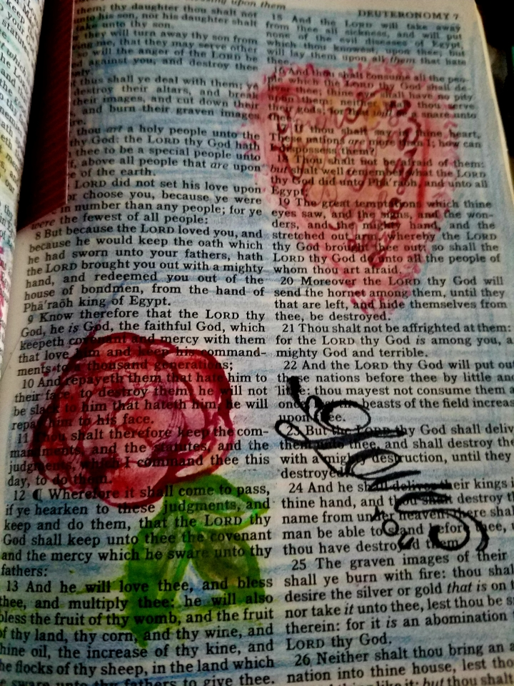 Sunday's Words of Faith* Bible Journaling