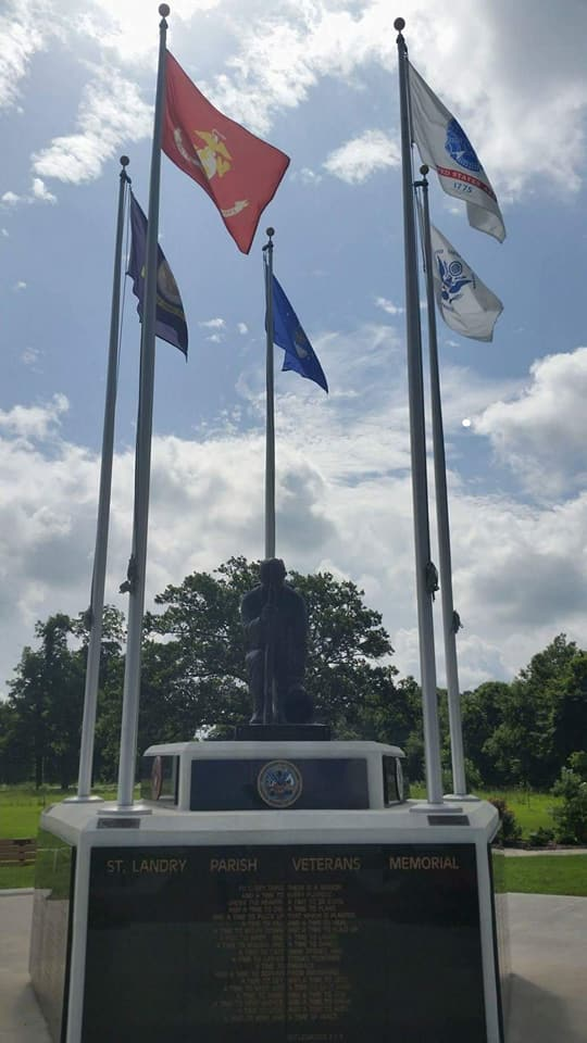 Monday's Road trip with Tom & Lisa: St Landry Parish Veterans Memorial