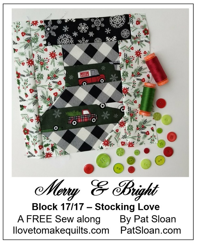 Stocking Love * Quilt along and funfacts