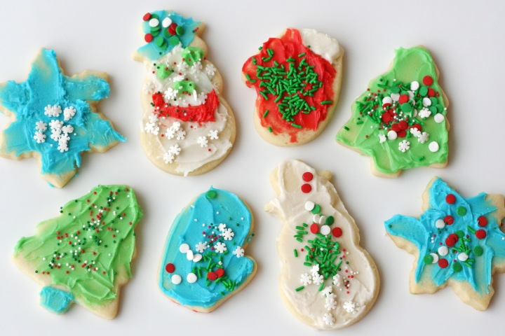 Sugar cookies decorated by kids