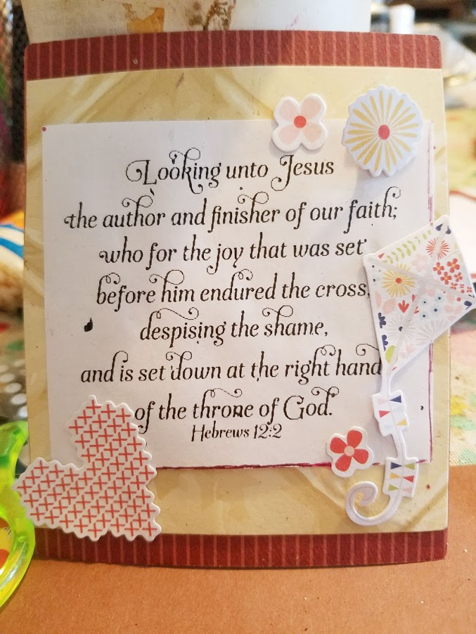 Cardmaking with bible verses