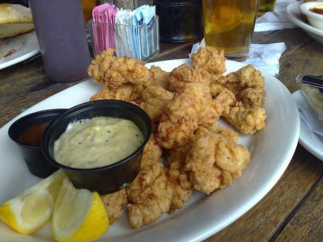 Dad's Birthday Lunch * Alligator tails