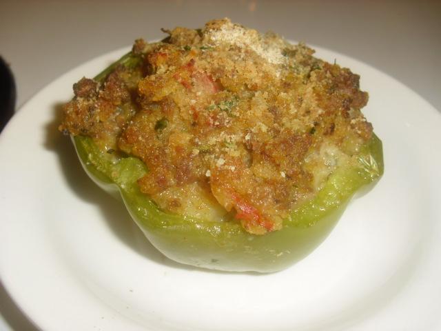Cajun Shrimp Stuffed bell pepper two ways: