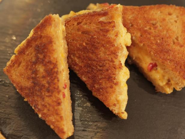 Grilled Cheese Day ! Pimento and Cheese grilled