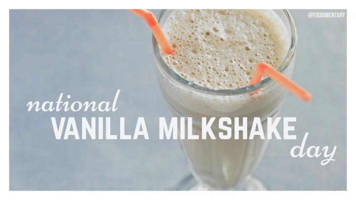 Vanilla milkshake day!