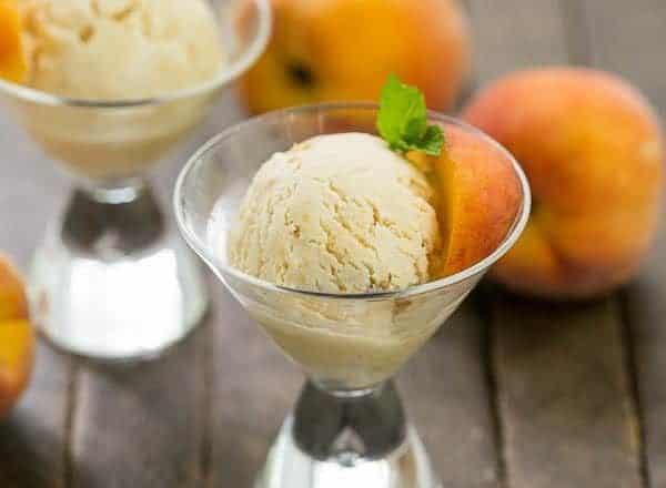 Peaches and cream icecream