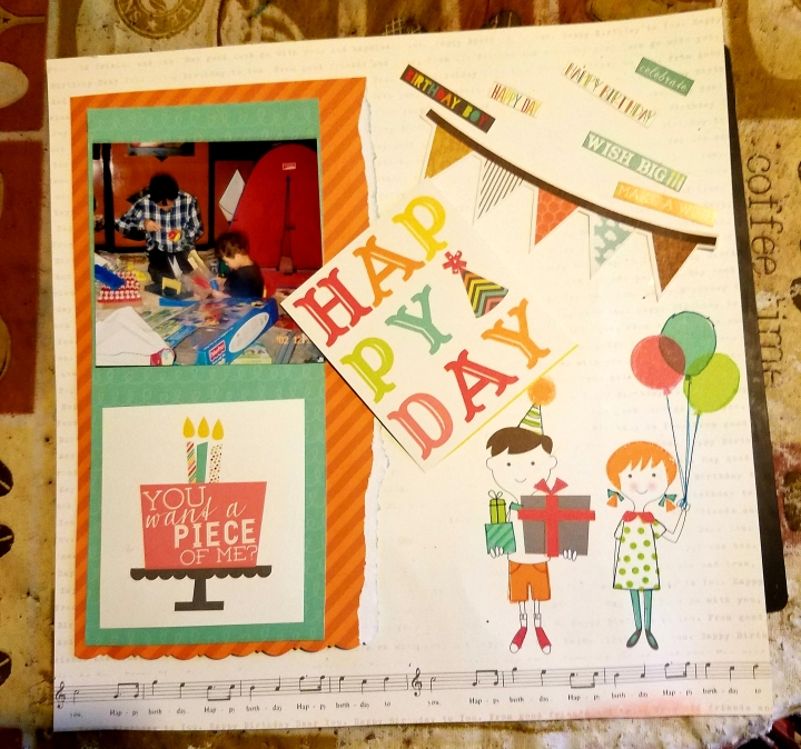 Let's Party * scrapbook layout