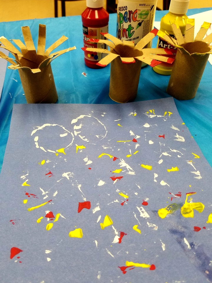 Library kids crafts * 4th of July
