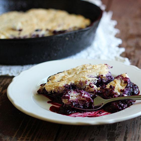 Blueberry Skillet dumpcake