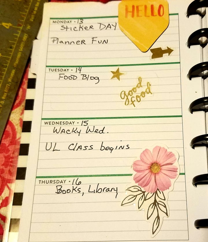 Planner and Stickers