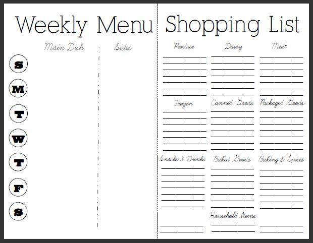 Monday meal planner: