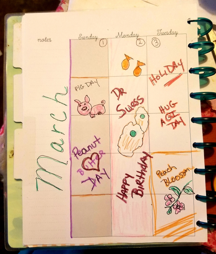 March Planner :