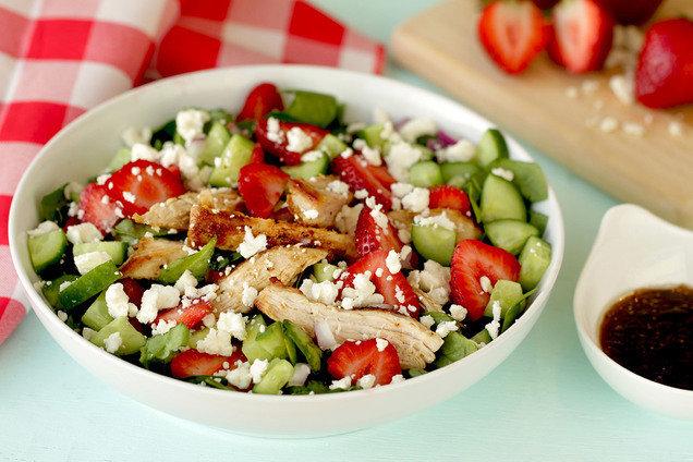 Strawberry and ChickenSalad