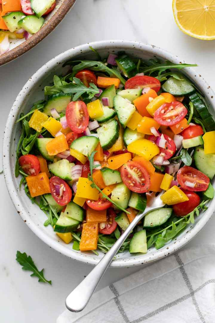 Healthy Chopped Vegetable Salad: